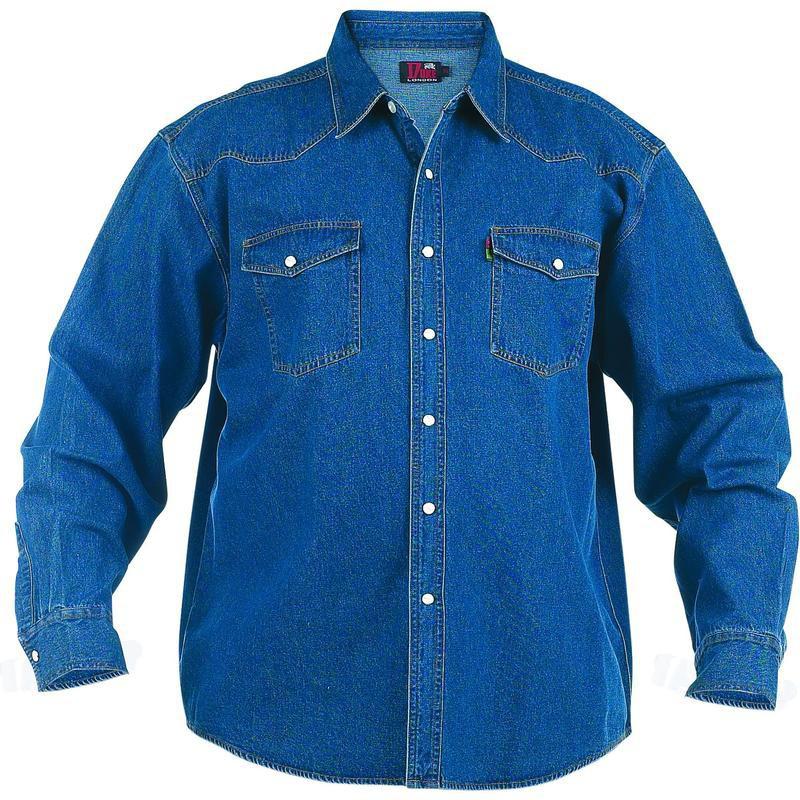 chemise denim bleu western grande taille homme coton duke. Black Bedroom Furniture Sets. Home Design Ideas