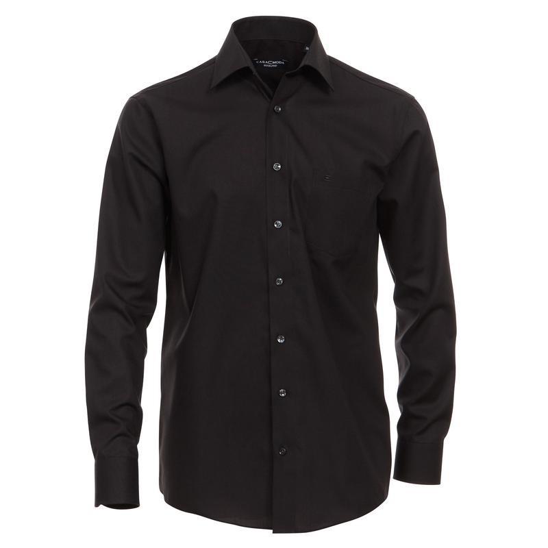chemise grande taille homme noir casamoda sans repassage chic coton. Black Bedroom Furniture Sets. Home Design Ideas