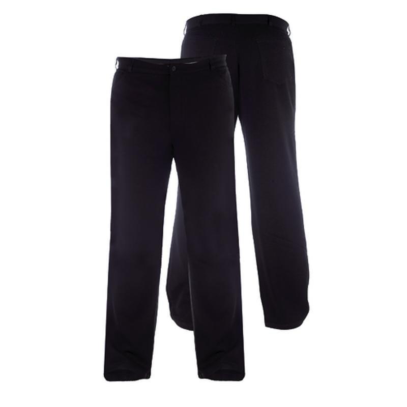 pantalon ville noir giles grande taille homme duke. Black Bedroom Furniture Sets. Home Design Ideas