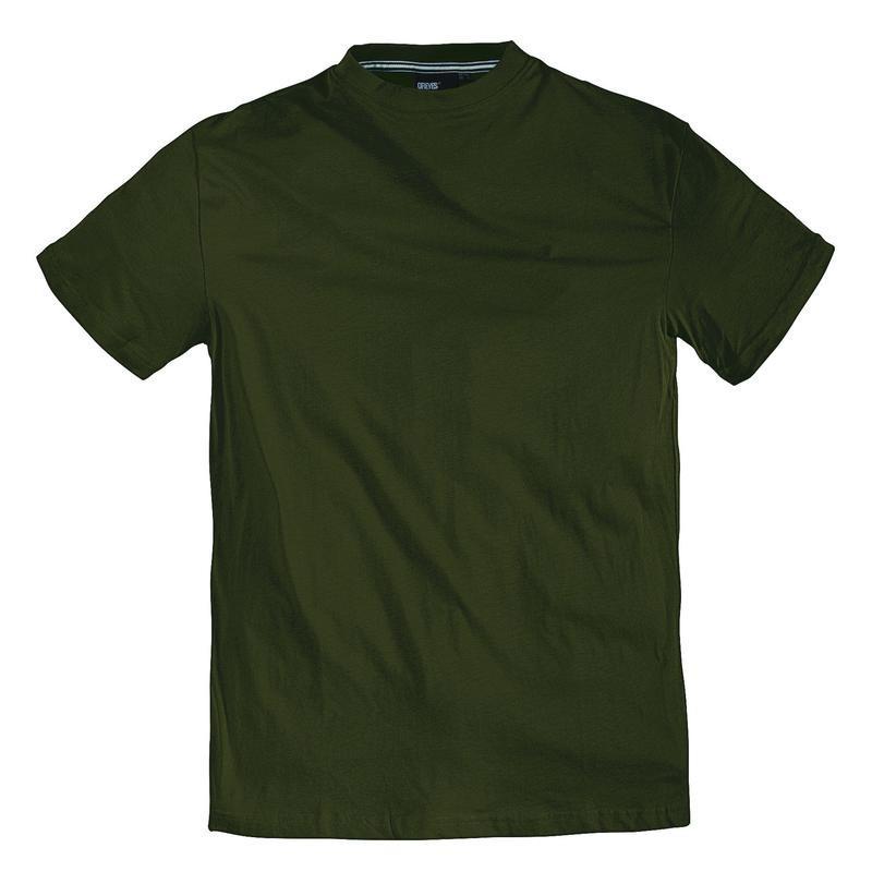 tee shirt olive coton grande taille homme marque allsize qualit pas cher. Black Bedroom Furniture Sets. Home Design Ideas