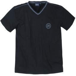 Tee-shirt de pyjama PATRICK noir manches courtes grande taille homme by Allsize