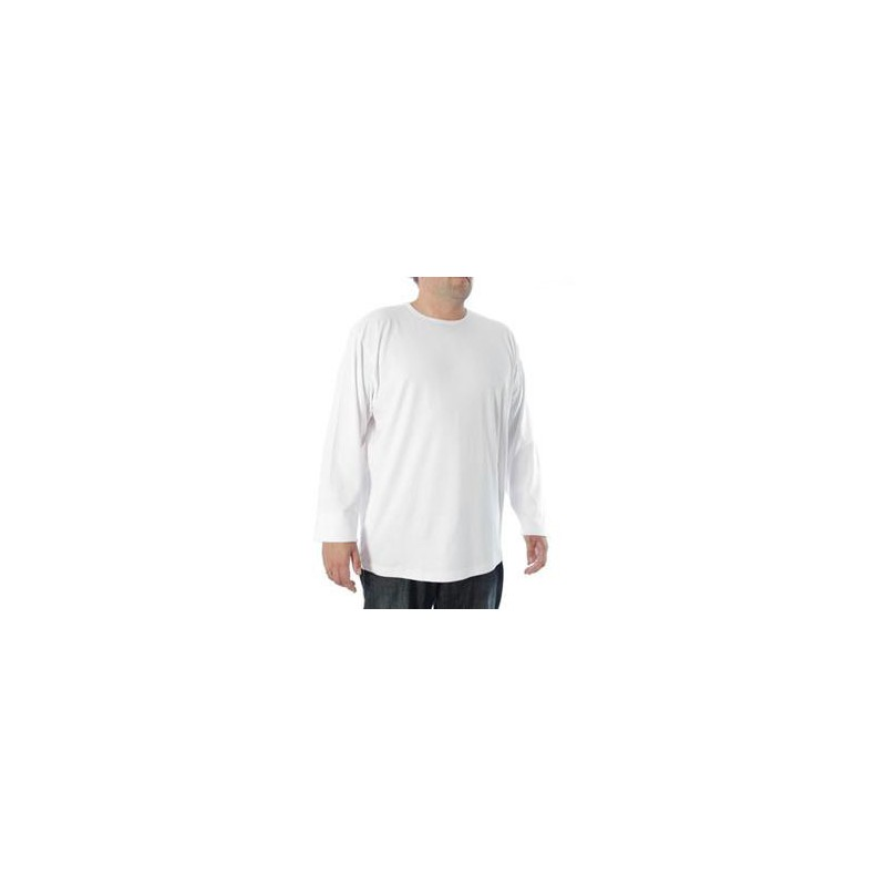 tee shirt blanc grande taille homme manches longues allsize coton chaud. Black Bedroom Furniture Sets. Home Design Ideas