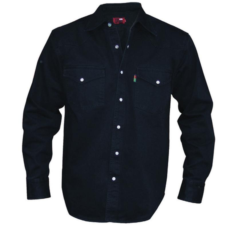 chemise jean noir western grande taille homme duke coton qualit. Black Bedroom Furniture Sets. Home Design Ideas