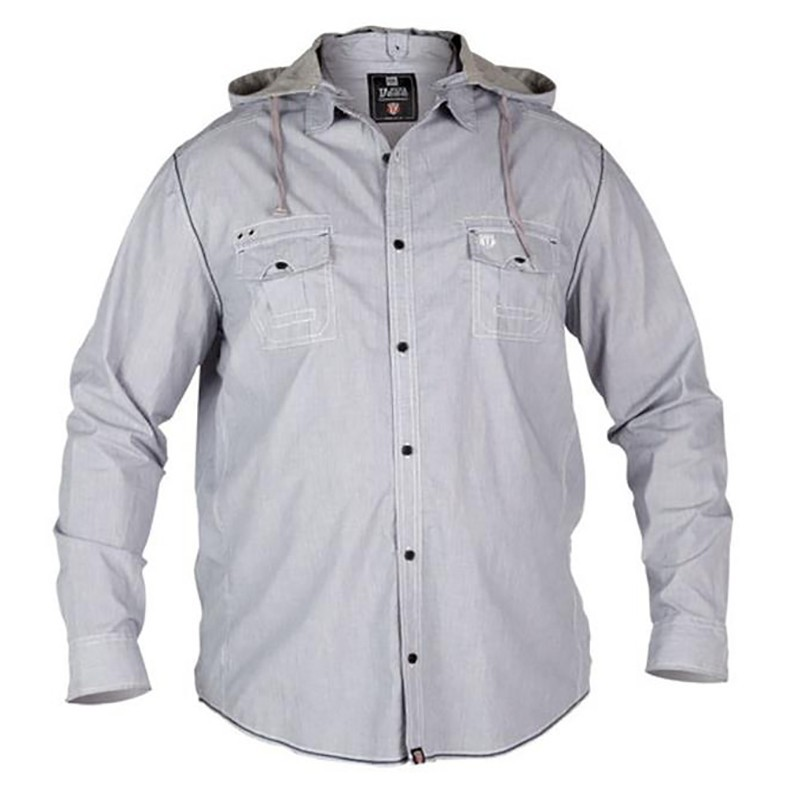 chemise capuche manches longues grande taille homme duke hiver coton. Black Bedroom Furniture Sets. Home Design Ideas