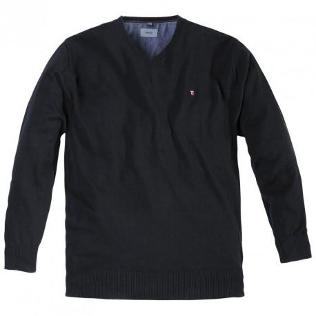 pull greyes noir grande taille homme jersey allsize qualit chaud. Black Bedroom Furniture Sets. Home Design Ideas