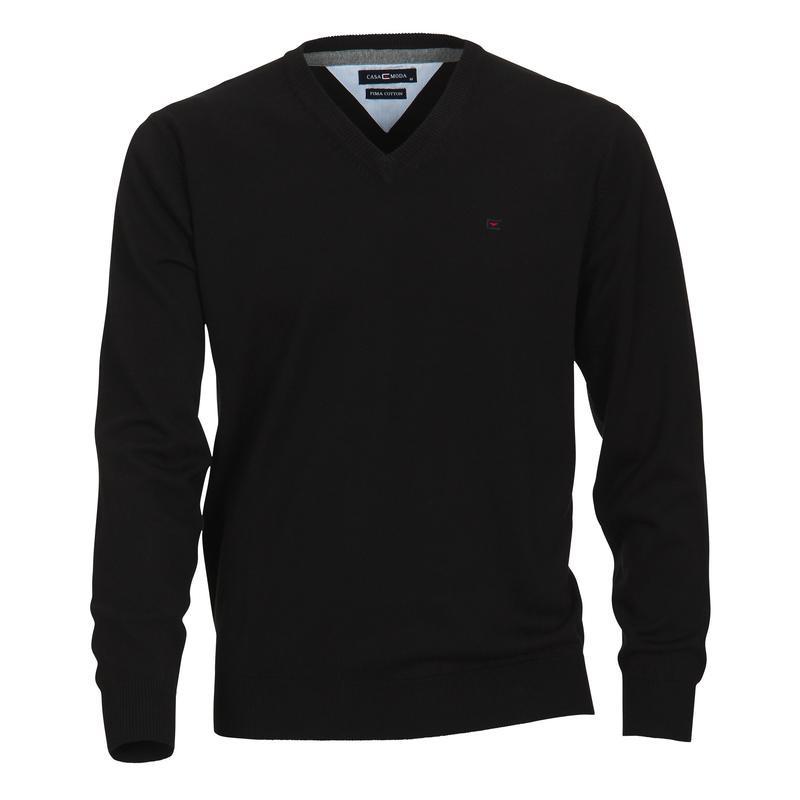 pull matteo noir grande taille homme jersey casamoda pas cher. Black Bedroom Furniture Sets. Home Design Ideas