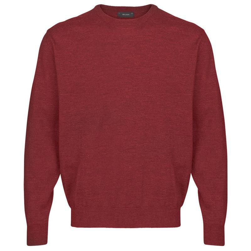 Pull AYMERIC rouge grenat grande taille homme laine mérinos et acrylique by  Breidhof. Loading zoom c7572db63cbb