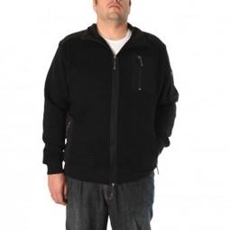 Veste capuche noir Manhattan Allsize Grande Taille Homme