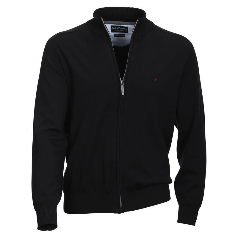 gilet cardigan lucas noir grande taille homme jersey casamoda qualit. Black Bedroom Furniture Sets. Home Design Ideas
