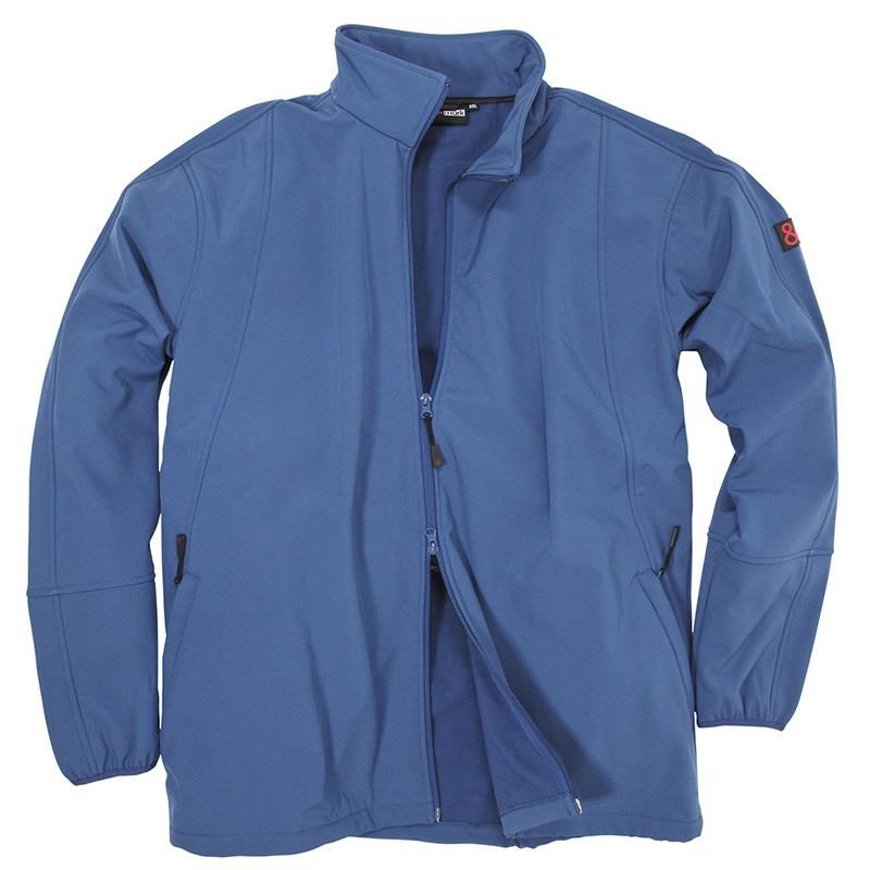 Qualité Bleu Taille Softshell amp;mark Homme Grande Veste Sport Marc Arosa Izx1w1EZ