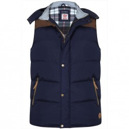 Doudoune sans Manches PAXTON navy grande taille homme by Duke