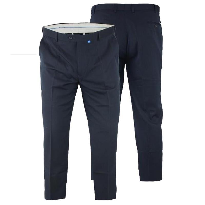 b992b31539280 Pantalon ajustable SUPREME navy grande taille homme by Duke. Loading zoom