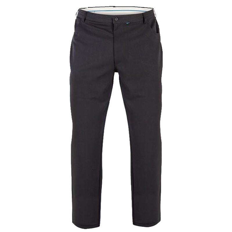 pantalon ville noir beck ajustable grande taille homme duke confortable. Black Bedroom Furniture Sets. Home Design Ideas