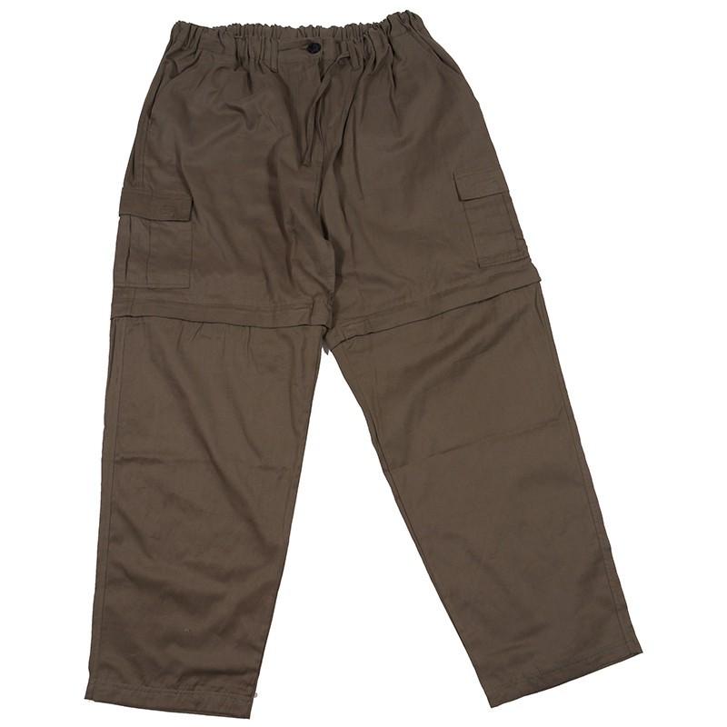 pantalon cargo kaki lastiqu grande taille homme abraxas. Black Bedroom Furniture Sets. Home Design Ideas