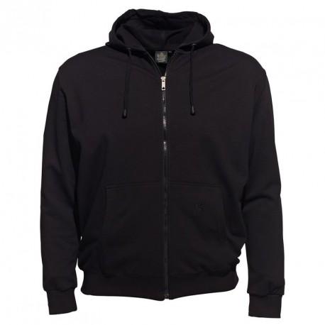 Veste zippé capuche BASTIAN noir grande taille
