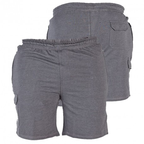 Short john gris grande taille homme duke coton pas cher - Pyjama homme grande taille pas cher ...