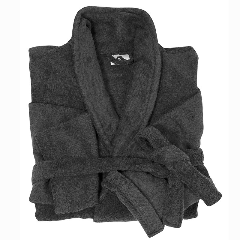 Peignoir Mickael Noir Grande Taille Homme Abraxas Qualite Coton 10xl