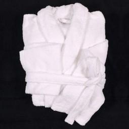 Peignoir MICKAEL blanc très grande taille homme by Abraxas