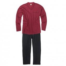 Ensemble Pyjama GUSTAV bordeaux noir grande taille homme by Adamo