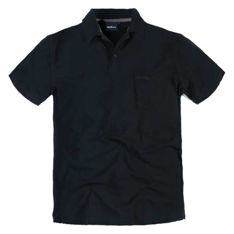 Polo yann noir grande taille homme Allsize