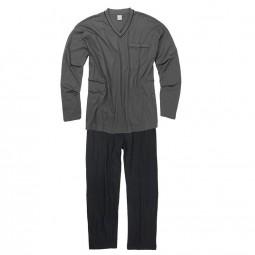 Ensemble Pyjama GUSTAV anthracite noir grande taille homme by Adamo