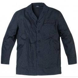 Ensemble Pyjama CHARLES bleu nuit à carreaux grande taille homme by Allsize