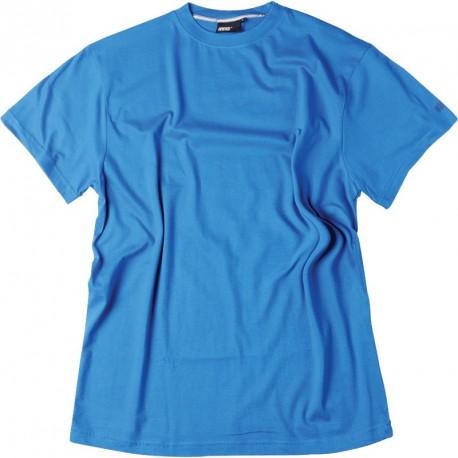 669316c6fba Tee-shirt uni bleu cobalt coton grande taille homme de marque Allsize