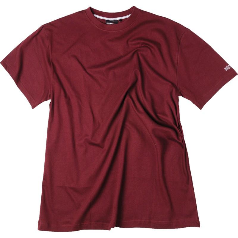 Tee-shirt bordeaux coton grande taille homme marque Allsize pas cher bdc79e1121a
