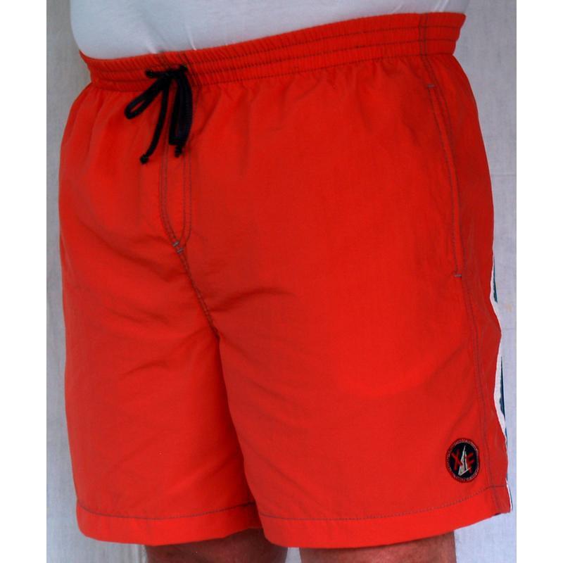 Short bain rouge grande taille homme maxfort piscine pas cher for Short de bain piscine