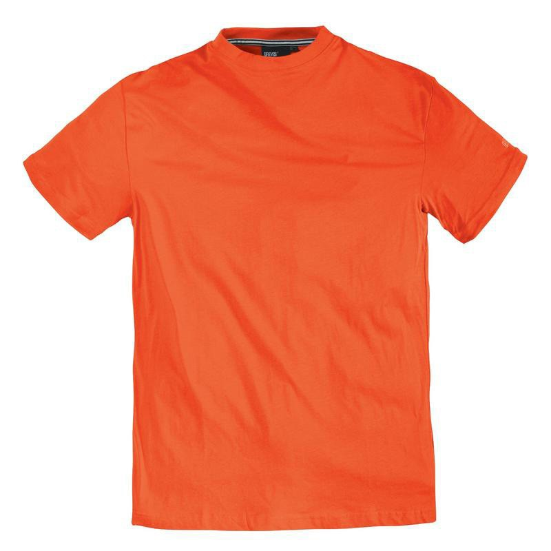 tee shirt orange coton grande taille homme marque allsize pas cher. Black Bedroom Furniture Sets. Home Design Ideas