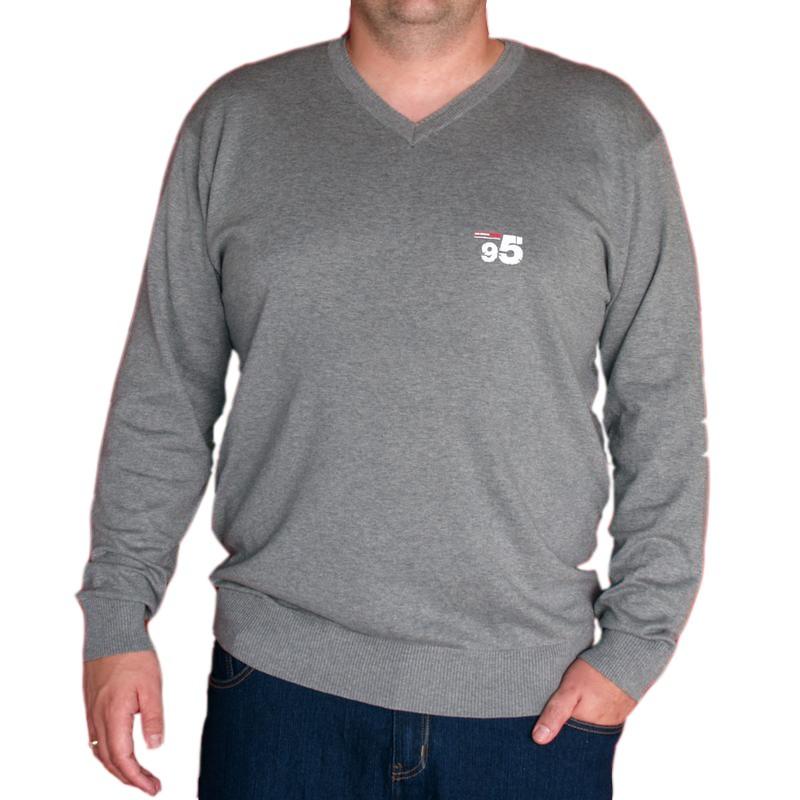 pull grande taille homme allsize gris jersey chaud hiver qualit. Black Bedroom Furniture Sets. Home Design Ideas