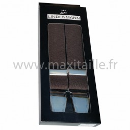 Bretelles marron grande largeur by Lindenmann